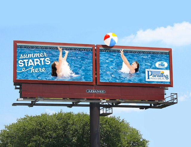 Paradise Pools & Bioguard co-op ad